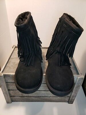 b86a9da9a1b KOOLABURRA BY UGG 1015897 Ankle Cable Winter Boots Woman US SIZE 6 BLACK  NEW $95