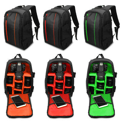 Waterproof Camera Backpack Travel DSLR Bag W/ Rain Cover For Canon Sony