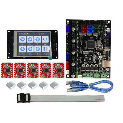 TFT32 Full Color LCD Touch Screen + MKS-GEN L Mainboard with 5Pcs Red A4988 Driv
