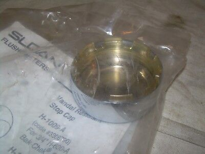 "Sloan H-1010-A Vandal Resistant Stop Cap For 1"" H-600-A Bak-Chek  New In Package"