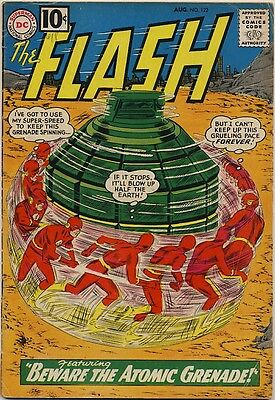 THE FLASH #122 1961 ORIGIN & 1ST APPEARANCE OF THE TOP Beware The Atomic Grenade