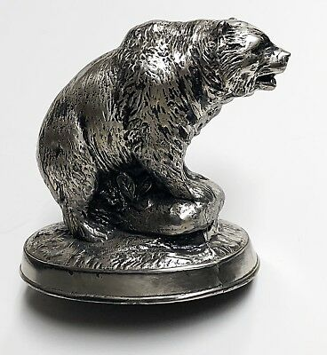 Unknown Silver Grizzly Bear Figurine