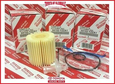 Genuine Toyota Lexus Scion Oil Filter Set Of (3) Oem 04152-Yzza1 (Fast Shipping)