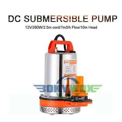 DC 12V Submersible Water Pump 260W Well Water Pump,Farm Ranch Garden Household