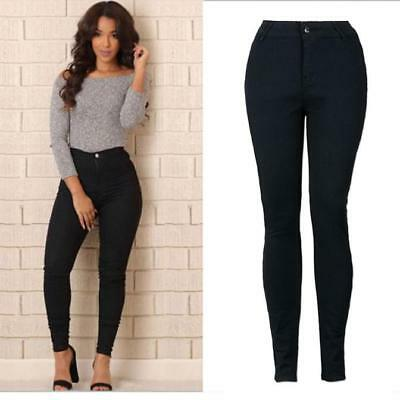 Sexy Women Pencil Stretch Casual Denim Skinny Jeans Pants High Waist Trousers