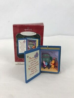 Hallmark Keepsake Ornament A Visit From Piglet Winnie the Pooh 1998 Book