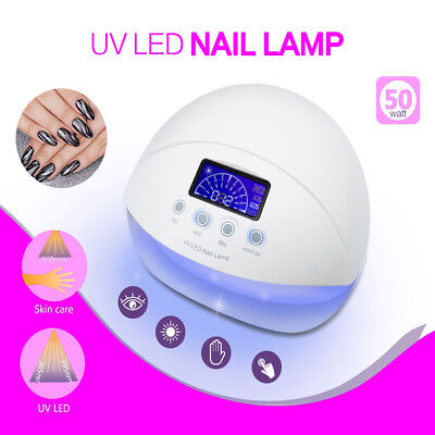 Professional 50W UV LED Nail Lamp Polish Dryer Light Gel Drying Curing Manicure