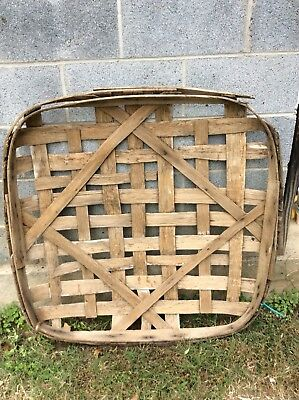Antique Primitive Handmade Tobacco Basket Natural Band From Somewhere NC?