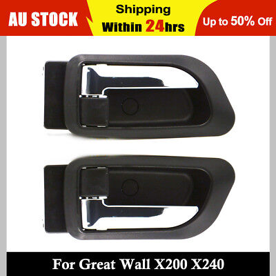 1 Pair of Great Wall X200 X240 Front Left and Right Chrome Inner Door Handle