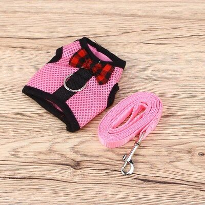 1PC Cute Lovely Breathable Mesh Harness With Leash for Rabbit Guinea pig Hamster
