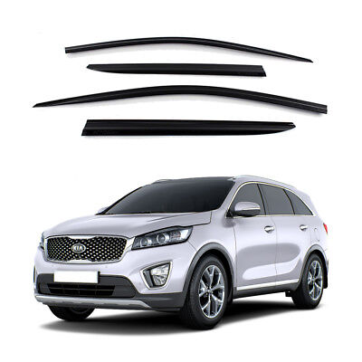 Out Channel Visors Wind Deflector Smoke Tinted For Kia Sorento 14-18 4pcs