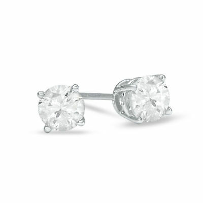 Diamond Natural Stud Earrings 14k White Gold