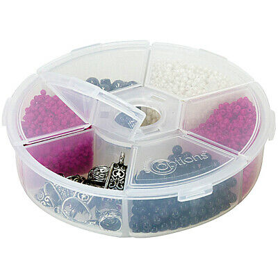 "Creative Options Round Accessory Organizer-4.25""X4.25""X1.25"" Clear"