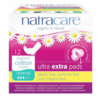 Natracare EXTRA Pads Normal 12CT (5 Boxes) / 12 Count / 12 each (5 Boxes)