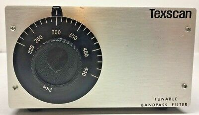 Texscan Tunable Bandpass Filter 5VF 220/440 - 1.5 - 75 - XX 220 - 440 MHz 75 Ohm