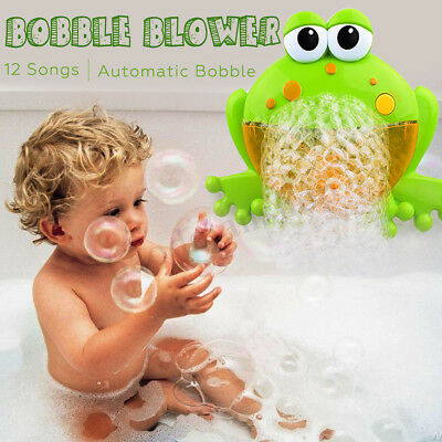 Bubble Frog Crab Blower Maker Automatic Kids Shower Machine Baby Bath Music Toys