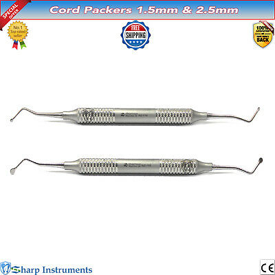 Dental Instruments Gingival Cord Packers 1.5MM, 2.5MM Tissue Retraction Packing