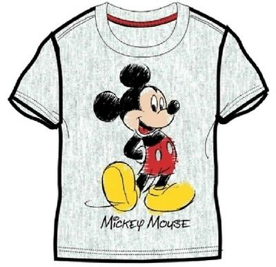 Wholesale Job Lot 50 x NEW Disney MICKEY MOUSE Short-Sleeved Grey T-Shirts