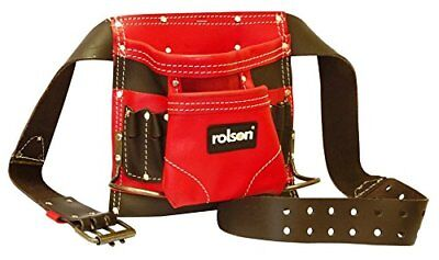Rolson 8 pocket classic REAL leather tool Belt - Brand New