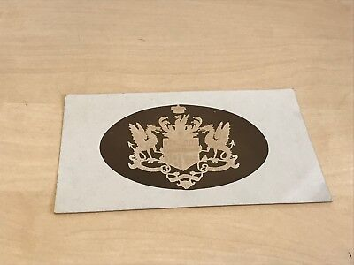 EARLY 1900S CHUDLEIGH Lace School Clifford Family Coat of Arms / Crest  Design
