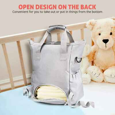 Mummy Baby Changing Bag Nappy Diaper Wipe Clean Maternity Backpack Bag Dark MP