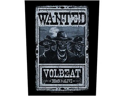 VOLBEAT wanted dead or alive - 2015 - GIANT BACK PATCH - 36 x 29 cms