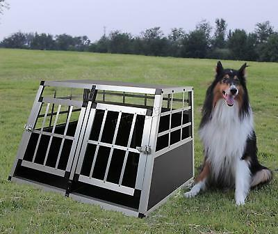 Aluminium Dog Puppy Pet Cage Kennel Animal Portable Travel Divide Crate Carrier