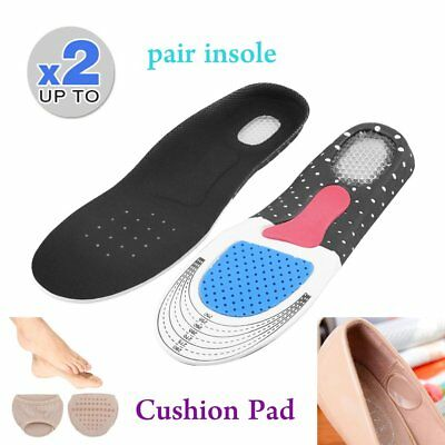 Unisex Orthotic Support Shoe Pad Sport Running Gel Insoles Insert Cushion VV