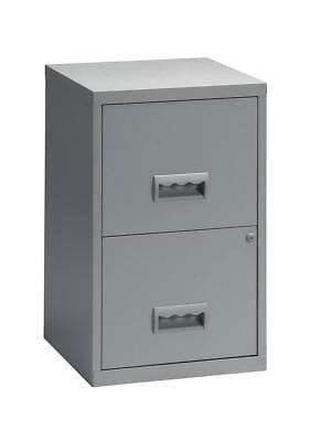 Pierre Henry Filing Cabinet Steel Lockable 2 Drawers A4 Grey Ref 095000 - 095000