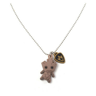 Marvel Guardians of the Galaxy Groot Kawaii 3D Rubber Pendant Chain Necklace, On