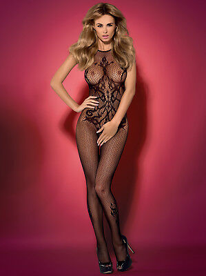 Obsessive Bodystocking S/M/L Catsuit Ouvert G308 Schwarz