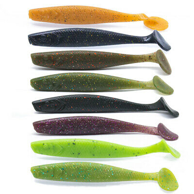 10pcs Silicone Bait Set 10cm 6g Fishing Lure Shad Easy Shiner Soft Lures 5 Color