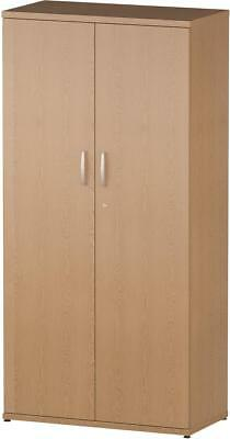 Trexus Office Cupboard 800mm 4 Shelves Oak - I000802