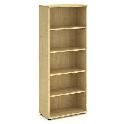 Trexus Office Bookcase 800mm 5 Shelves Maple - I000232