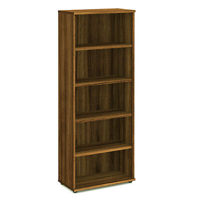 Trexus Office Bookcase 800mm 5 Shelves Walnut - I000112