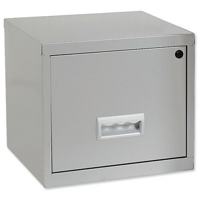 Pierre Henry Filing Cabinet Steel Lockable 1 Drawer A4 Silver Ref 599000 - 59900