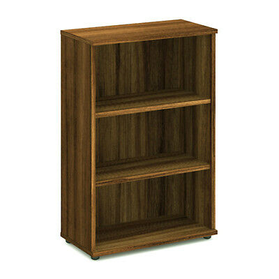 Trexus Office Bookcase 800mm 3 Shelves Walnut - I000110