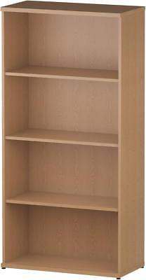 Trexus Office Bookcase 800mm 4 Shelves Oak - I000759