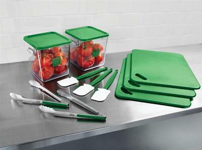 NO-NAME Food Service Kit 12 Piece Colour-coded Green - 2002725