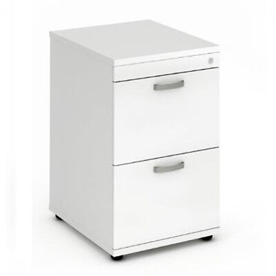 Trexus Wooden Filing Cabinet 500mm 2 Drawers White - I000192