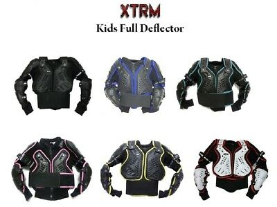 Kids Mx Body Armour Motocross Dirt Bike Off Road Chest Spine Protection Jackets