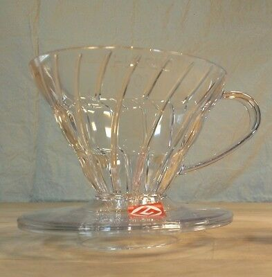 Hario Clear Plastic V60 01 coffee dripper with 100 coffee filters