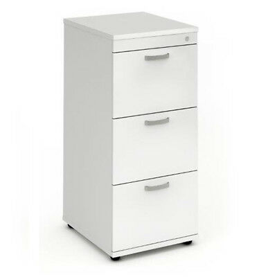 Trexus Wooden Filing Cabinet 500mm 3 Drawers White - I000193