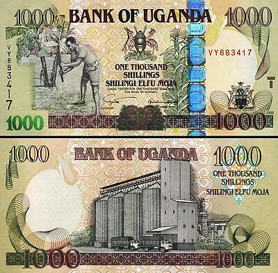 Uganda, 1000 Shillings 2005, Unc, 5 Pcs LOT, Consecutive, P-43a