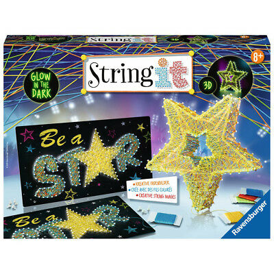 RAVENSBURGER Bastelset String it Maxi: Be a Star Kreativset Fadenkunst 3D-Stern