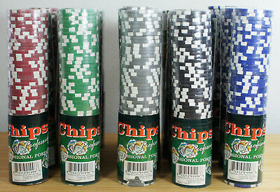 1000 Professional 11.5g Poker Chips Card Insigna PCR50 Red Green Black Blue Gray