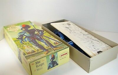 Aurora large blue knight of Milan Modell Kit OVP Bausatz OK Komplett 472 1970's