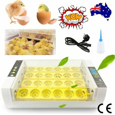 24 Egg Incubator Automatic Digital LED Turning Chicken Duck Poultry Bird 80W BG