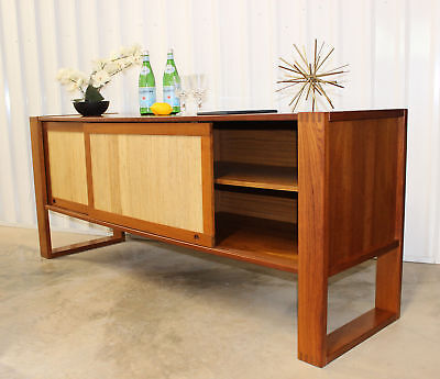 The Best! MID CENTURY DANISH MODERN TEAK CREDENZA Sideboard FREE SHIP!!!