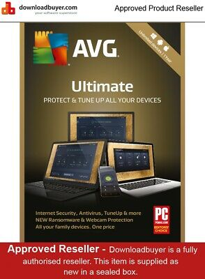 AVG Ultimate 2019 - 1 Year/Unlimited Devices - AVG DISTRIBUTOR